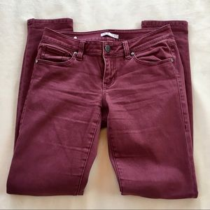 CAbi Wine-Colored Skinny Jeans Size 2